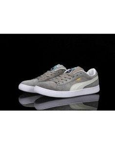 Puma Classic Suede Sneakers Gray White - Puma Shoes