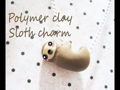 Hanging sloth polymer clay tutorial