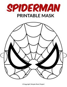 Are you looking for Spiderman birthday party ideas? Use this FREE printable boys Spiderman mask template for your kids coloring costume or use them as party favors for his special day! They also make fantastic coloring crafts! Spiderman Craft, Printable Masks, Templates Printable Free, Printable Crafts, Free Printables, Superhero Mask Template, Face Masks For Kids
