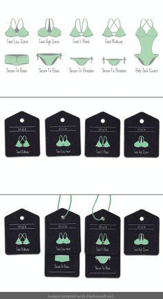 Swimwear #hangtags. #pictogram #icons