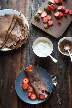 These healthy chocolate crepes are made with whole wheat flour (spelt flour) and honey. They are kid approved and perfect for special occasions!