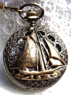 Nautical pocket watch men's pocket watch by Charsfavoritethings