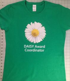 Tampa General's DAISY Coordinator Ritchel Articulo designed her own shirt that she wears to award presentations!