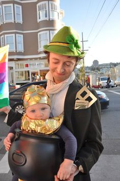 So cute! Leprechaun and little pot of gold.