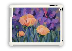 Poppies with Purple iPad case