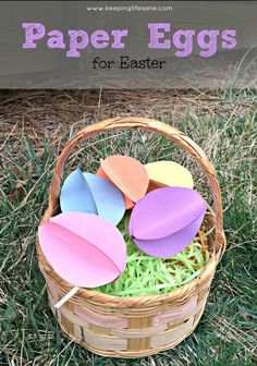 These are so cute!! Paper Eggs for Easter - Keeping Life Sane
