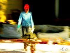 Man at work series © Anankah  [Nancy Duarte] Street, colour, motion picture, LE