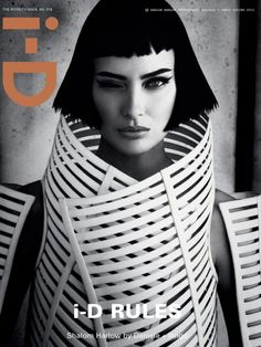 Photography: Daniele Duella and Iango Henzi Styling: Patti Wilson Hair: Luigi Murenu Make-Up: Stephane Marais Shalom Harlow Shalom wears dress Gareth Pugh Fashion Magazine Cover, Fashion Cover, Fashion Art, Editorial Fashion, Fashion Models, Magazine Covers, Dark Fashion, Fashion Shoot, Editorial Design