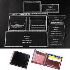 Classic Bifold Acrylic Template Set Handmade Short Wallet Pattern WT820