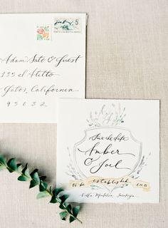 #paper-goods, #save-the-date, #calligraphy, #stationery  Photography: Jen Huang Photography - jenhuangphotography.com Calligraphy: Feast Calligraphy - feastcalligraphy.com Stationery: (Watercolor) Jen Huang Art - jenhuangart.com