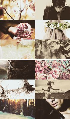Persephone was gathering flowers one day on a plain in Sicily. Hades suddenly appeared, thundering across the plain in his four-horse chariot. The god swooped down upon Persephone, scooped her up with one arm, and literally and figuratively deflowered her—leaving the plain scattered with blossoms of every color. #myth