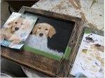Painting Of Cute Golden Retriever Puppy,