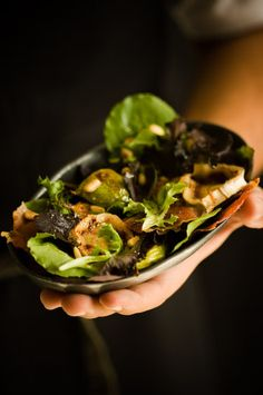 Fig and chevre salad via sweet paul