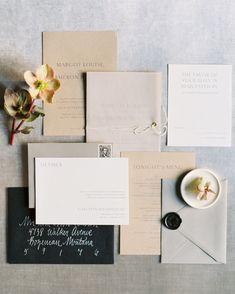 Ink Wedding Invitations Elegant Modern, Ivory Wedding Invitations, Letterpress Wedding Invitations, Wedding Envelopes, Wedding Stationery, Address Envelopes, Apricot Wedding, Wednesday Morning, Modern Minimalist
