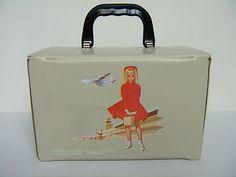 1964 VINTAGE *+ SKIPPER +* BEIGE+* TRAIN CASE BOX | eBay