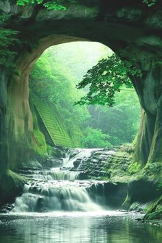 Nomizo Falls, Chiba, Japan Photo by Amazing Photography, Nature Photography, Landscape Photography, Chiba Japan, Image Nature, Les Cascades, Destination Voyage, Japan Photo, Green Landscape