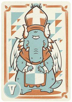 Marty Elmer - The Hierophant (Tarot)