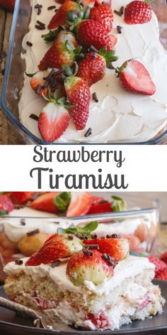 Nutritious Snack Tips For Equally Young Ones And Adults Strawberry Tiramisu,The Perfect Summer Dessert, Made With Fresh Strawberries, Creamy Mascarpone, And Ladyfingers. No Bake And Delicious. Köstliche Desserts, Italian Desserts, Delicious Desserts, Italian Cookies, Strawberry Tiramisu, Strawberry Recipes, Strawberry Summer, Cupcakes, Cupcake Cakes