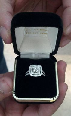 Double Halo, princess cut. Dream ring!!! Love everything about it!!