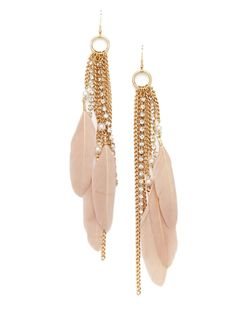 Cara Couture Feather Chain Earrings - $24.99 at ideeli.com (These are rather long earrings. Just FYI.)