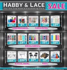 SPECIALS | Habby And Lace - Your One-Stop Home & Dressmaking Store!