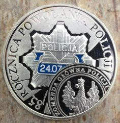 2004 Coin of Poland Silver Proof 10ZL 85 Anniversary of The Police No Reserve | eBay
