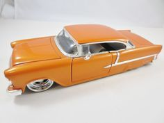 1/24 Scale Large Die Cast Model Toy Collector Car 1955 CHEVY BEL AIR JADA ORANGE