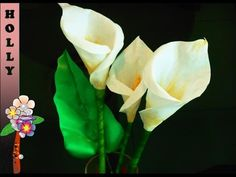 How To make paper flowers : Calla Lily   Easy and quick paper flowers tutorial…                                                                                                                                                                                 More
