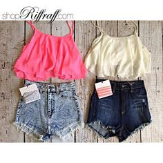 Crop Baby Doll Tops and Cut Offs from ShopRiffraff!