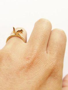 "Ring ""Squirrel"" made from brass, by Heydays on Dawanda*"