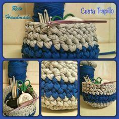 Crochet y demos: Cesta Trapillo - Reto Little Kimono Handmade #elretohandmade
