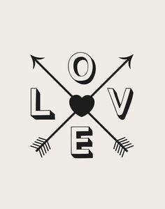 Inspirational Quote Motivational Print Love door TheMotivatedType