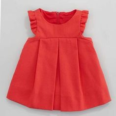 Plain Pincord Flutter-Sleeve Dress, Red, Months by Florence Eiseman at Neiman Marcus. Baby Girl Fashion, Toddler Fashion, Toddler Outfits, Kids Outfits, Kids Fashion, Baby Outfits, Gq Fashion, Fashion Online, Latest Fashion