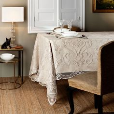 Laurent tablecloth zara home finally get in my house for Home decor zara