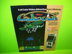 Midway GALAXIAN Original 1979 Space Shooter Video Arcade Game Sale Flyer 1-Sided #Midway