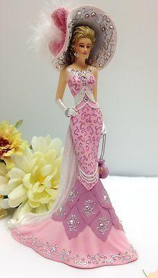 ... Swarovski Crystals Thomas Kinkade Lady Figurine Bradford