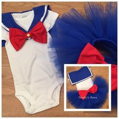 Bring back old memories when you dress your little princess in this adorable Sailor Moon inspired tutu set Tutu set includes top or onesie with wide collar with Velcro closure for easy on and off. Full and fluffy blue tutu with large red bow on back Sailor Moon Party, Sailor Moon Outfit, Sailor Moon Cosplay, Sailor Moon Birthday, Baby Cosplay, Tutu Outfits, Girl Outfits, Tutu Dresses, Sailor Moon Kostüm