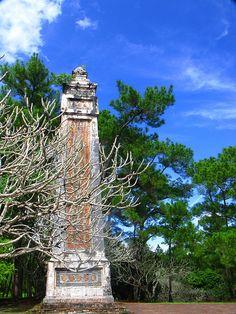 Imposing Pillar in Hue, Vietnam