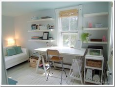 """Here it is: our small office guest room in it's current state! These are definitely not """"After"""" shots as there are still projects to start and organizing to finish. But before that happens, I'm v..."""
