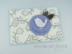 www.rosa-pink-glitzer.de: Stampin up Feathery Friends