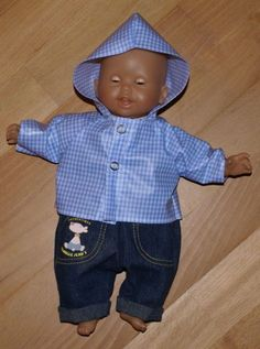 Je poursuis ma petite couture pour les poupées des Puces... Cette fois, c'est un ciré pour garçon (enfin.. mixte) que je viens de réaliser à...