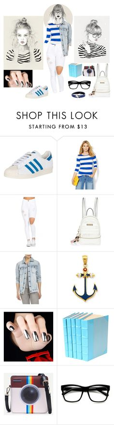 """""""Style Navy"""" by belen-lillo on Polyvore featuring moda, New York & Company, River Island, Current/Elliott, Kevin Jewelers, ZeroUV y McQ by Alexander McQueen"""