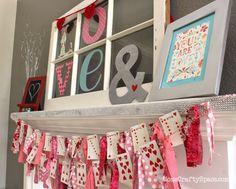 10 DIY Valentine Garlands.  10 DIY Guirnaldas de San Valentín.