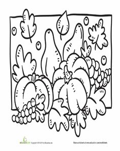 Fall Coloring Page Seasons WorksheetsFall