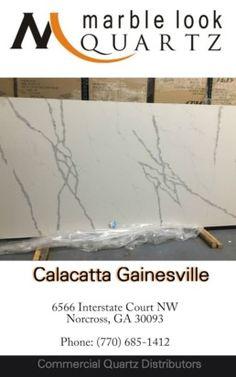 Atlanta premium quartz slabs Calacatta Gainesville quartz in Norcross Sino International Titan Quartz 770-685-1412. Calacatta Quartz, Quartz Slab, Atlanta, Commercial, Marble, Collection, Tinkerbell, Granite, Marbles