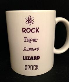 Big BANG Theory Inspired MUG Lizard SPOCK by TheMugglyDuckling,