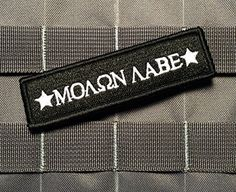 Tactical Swat Black Molon Labe 1x4 Inch Velcro Military Morale Patch Empire Tactical http://www.amazon.com/dp/B00X1IY1WQ/ref=cm_sw_r_pi_dp_RjOrvb0WFRV5E