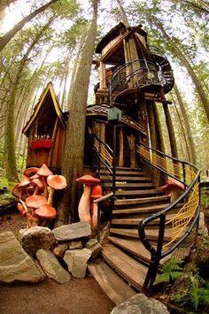 Enchanted Forest tree house ~ Revelstoke, British Columbia