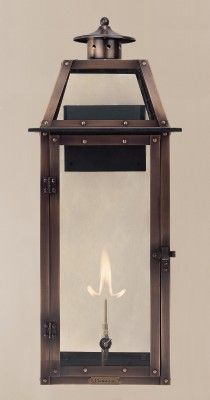 with solid top The CopperSmith Oakley Gas Lantern