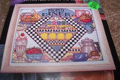 "Design Works MOM'S DINER Counted Cross Stitch Kit 11"" x 14"""